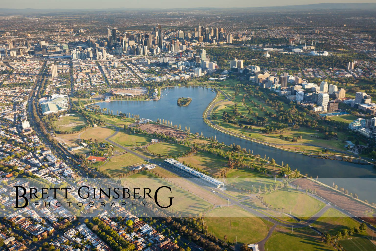 Melbourne Aerial Photography Sunrise