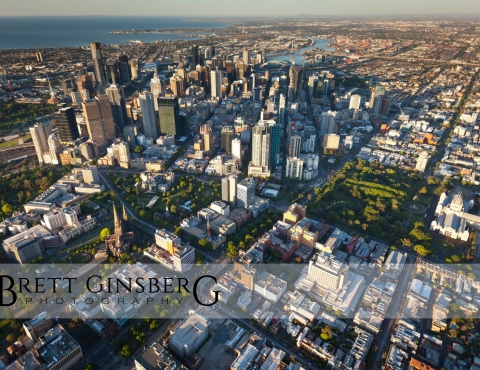 melbourne aerial photography sunrise outdoor cityscape