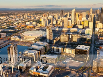 melbourne aerial photography sunset outdoor cityscape