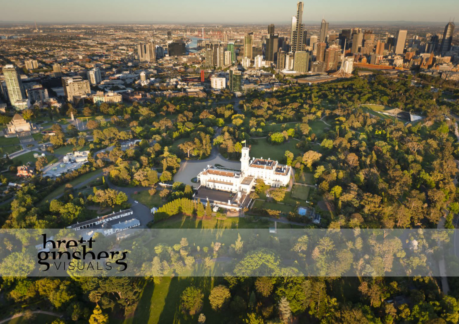 aerial drone photograph of governor general house melbourne