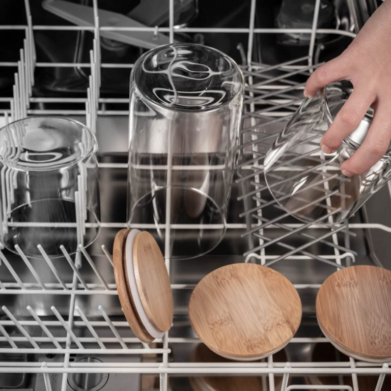 amazon photography example of lifestyle shot with glass jars in dishwasher in melbourne